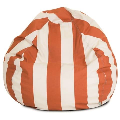 Vertical Stripe Shredded Foam Bean Bag Chair