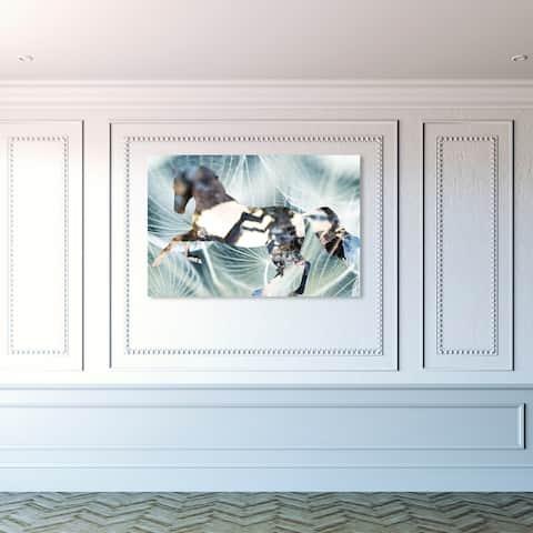 Oliver Gal 'Layered Fantasies' Fantasy and Sci-Fi Wall Art Canvas Print - Green, Black