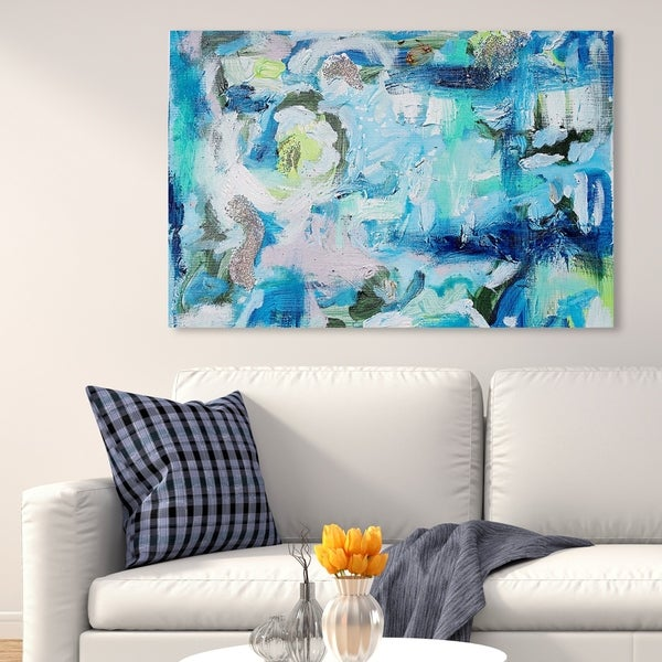 Oliver Gal 'Tiffany Pratt - Hypnotic Ocean' Abstract Wall Art Canvas Print - Blue, White