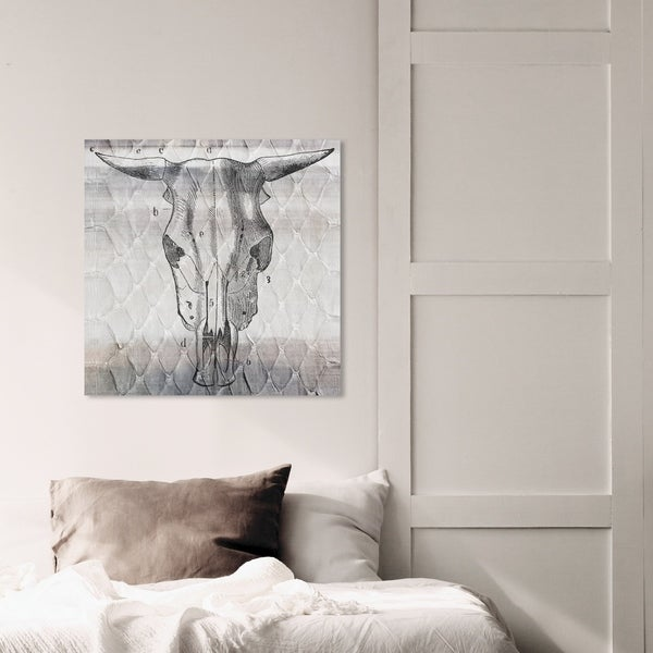 Oliver Gal 'Ox Due' Animals Wall Art Canvas Print - Gray, White