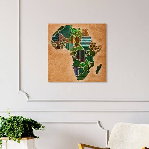Oliver Gal 'Mother Africa' World and Countries Wall Art Canvas Print - Green, Brown