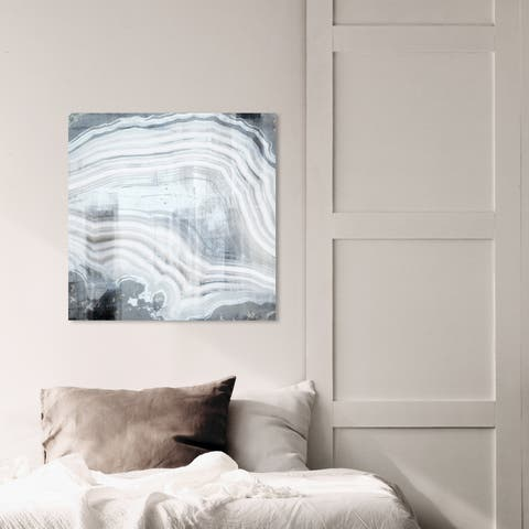 Oliver Gal 'Heart of the Storm' Abstract Wall Art Canvas Print - White, Gray