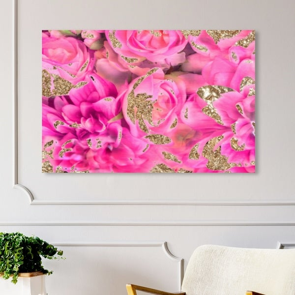Oliver Gal 'Again In Love' Abstract Wall Art Canvas Print - Pink, Gold