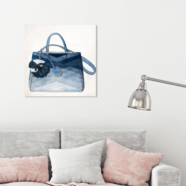 Oliver Gal 'Oh My Gosh It's Blue' Fashion and Glam Wall Art Canvas Print - Blue, White