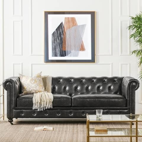 Copper Grove Munich Tufted Chesterfield Sofa