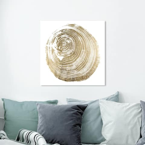 Oliver Gal 'Legno Dorato Due' Abstract Wall Art Canvas Print - Gold, White