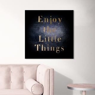 Oliver Gal 'All Small Things' Typography and Quotes Wall Art Canvas Print - Black, Gold