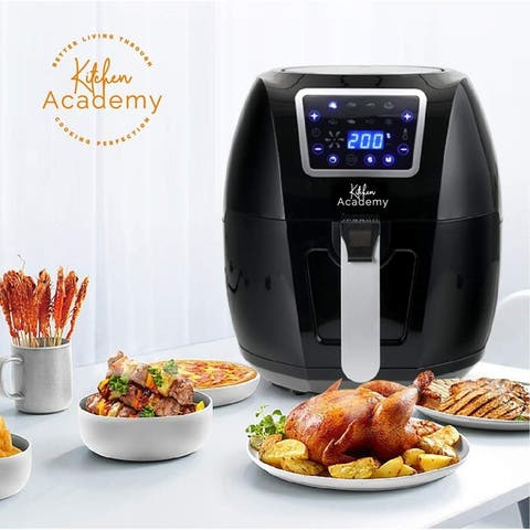 Kitchen Academy Air Fryer Oven XL 5.8 Qt Air Cooker 1700W Oilless Cooker With 8 Cooking Presets and Heat Preservation Function