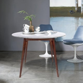 Link to Carson Carrington Tandsjoberg 39-inch Round Walnut Marble Dining Table Similar Items in Dining Room & Bar Furniture