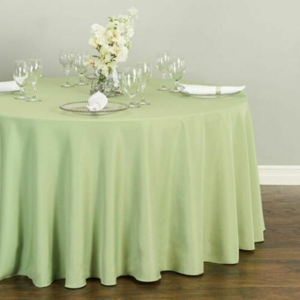 "Polyester Round Tablecloth 120"" Reseda"