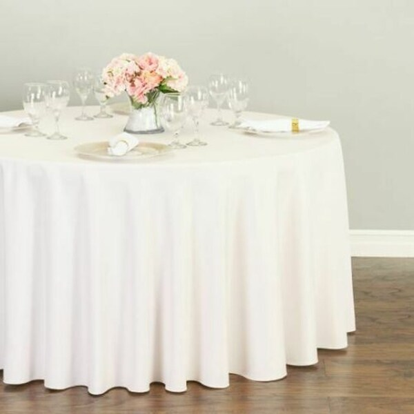 """Polyester Round Tablecloth 120"""" Light Pink"""