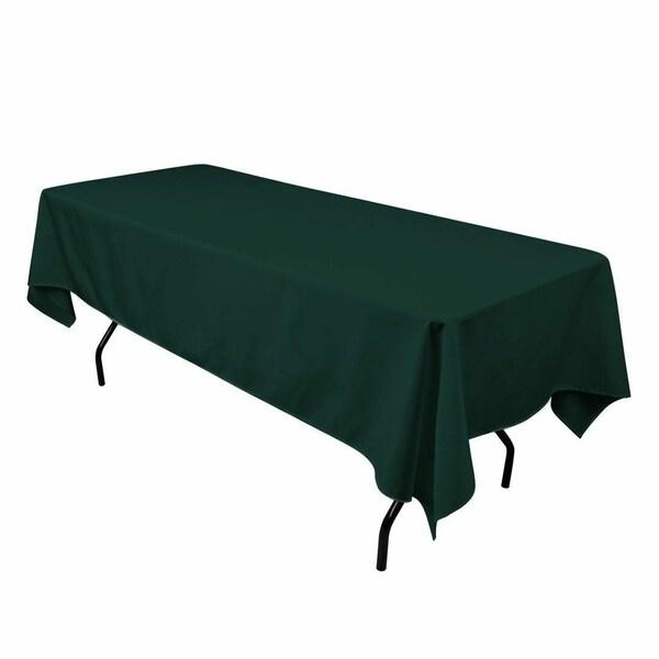 "Polyester Seamless Rectangular Table Cloth 60"" x 126"" Hunter Green"