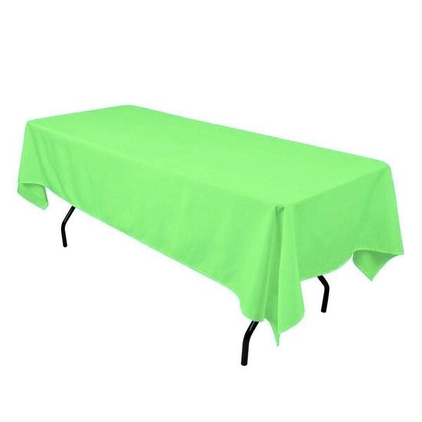 "Polyester Seamless Rectangular Table Cloth 60"" x 126"" Mint"