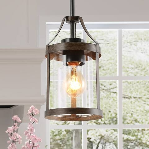 "Rustic Pendant Lighting Bronze Hanging Ceilling Light for Kitchen,Dining Room - W6""xH10"""