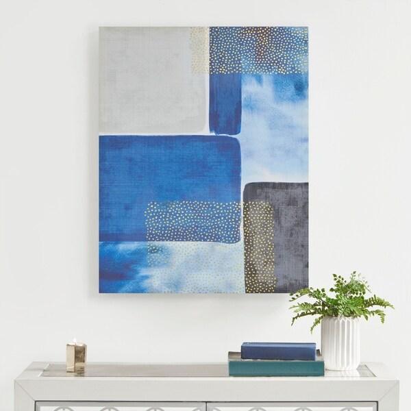 Urban Habitat Shape & Scope Blue Printed Canvas with Gold Foil