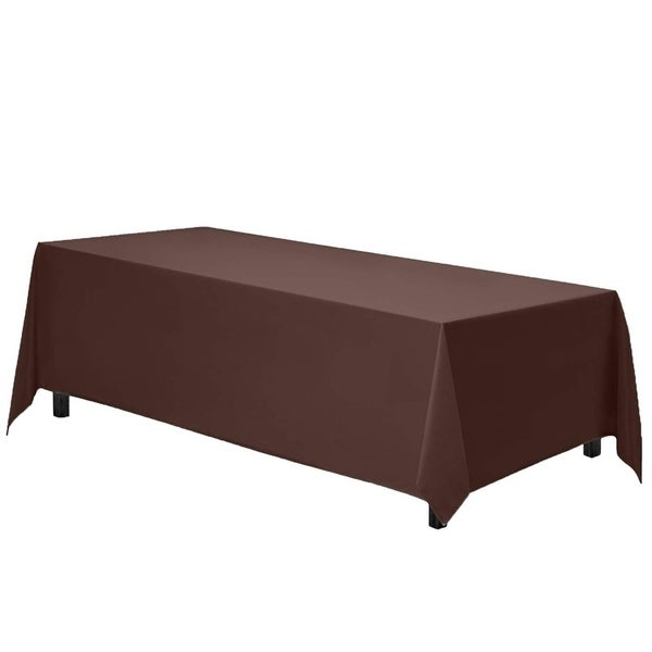 "Polyester Rectangle Party Tablecloth 90"" x 132"" Chocolate"