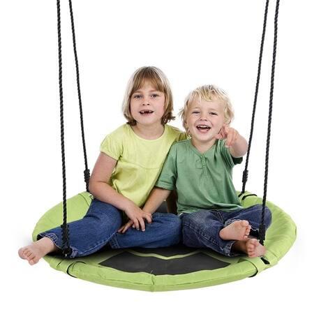 """Giant 40"""" Flying Saucer Tree Swing For Kids, Steel Frame"""