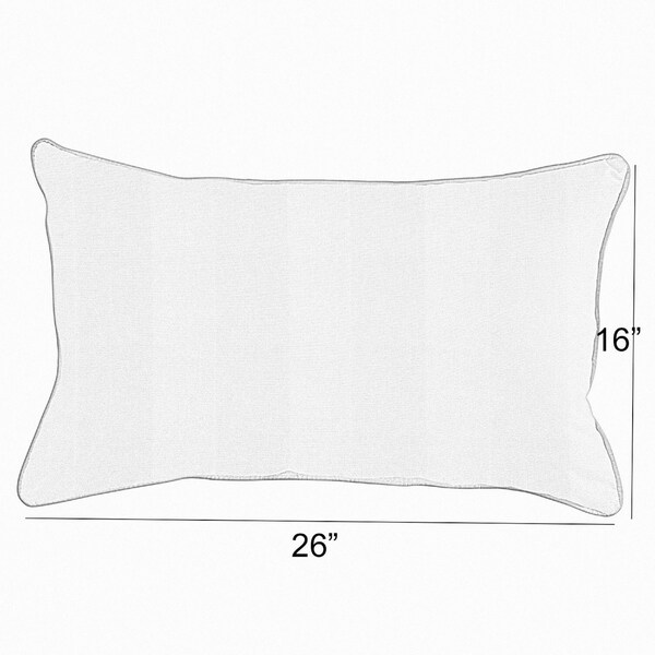 Sunbrella Canvas White Set of 4 Outdoor Square /& Rectangle Throw Pillows