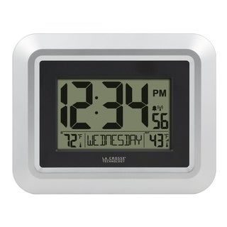 La Crosse Technology 513-1918S-INT Atomic Digital Wall Clock with Temperature