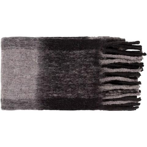 "Alyss Rustic Hand Woven 50"" x 60"" Acrylic-Blend Throw"