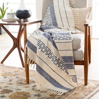 """Link to Muti Global Hand Woven 50"""" x 60"""" Cotton-Blend Throw Similar Items in Blankets & Throws"""