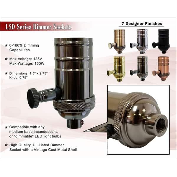 Royal Designs Dimmer Lamp Socket