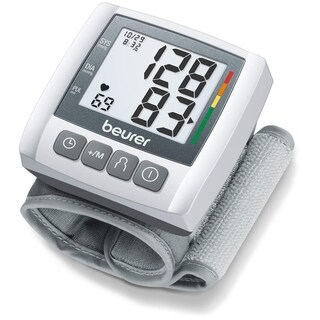 Beurer Wrist Blood Pressure Monitor, Fully Automatic Accurate Readings, Adjustable Wrist Cuff, Clear LCD Display, BC30