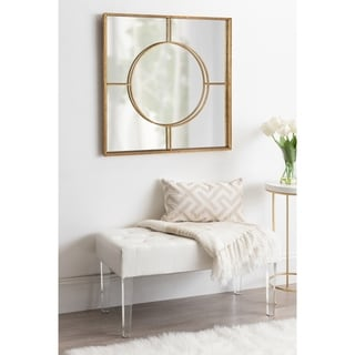 Link to Kate and Laurel Ansonia Modern Square Mirror - Gold - 30x30 Similar Items in Mirrors