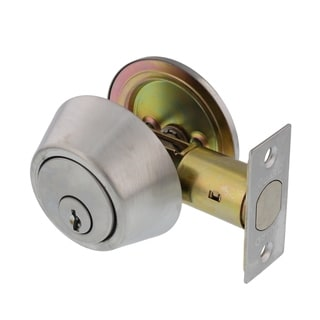 Guard Security 281HDS Single Cylinder Deadbolt Lock Set, Satin Chrome Finish