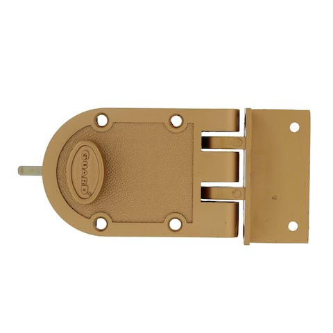 Guard Security 1303 Jimmy-Proof Single Cylinder Deadbolt Door Lock with Flat and Angle Strikes and Bronze Finish