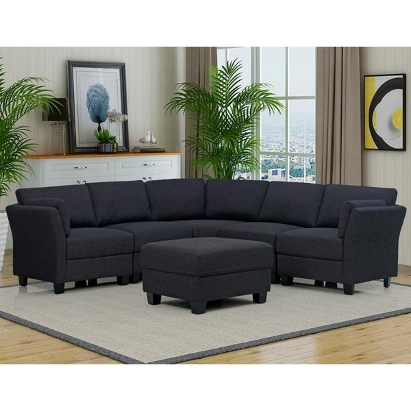 Best Master Furniture 6 Pieces Upholstered Sectional