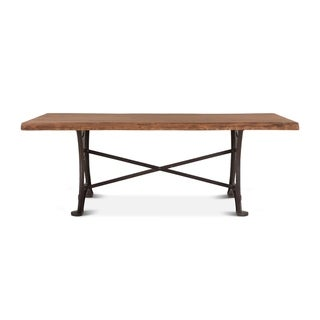 Carbon Loft Wiley Rectangle Live Edge Dining Table