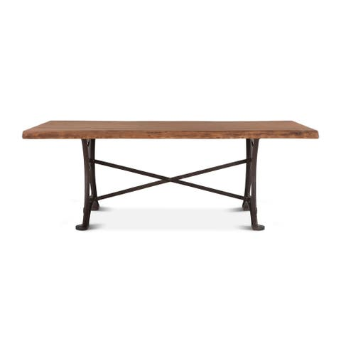 Carbon Loft Wiley Rectangle Live Edge Dining Table - N/A