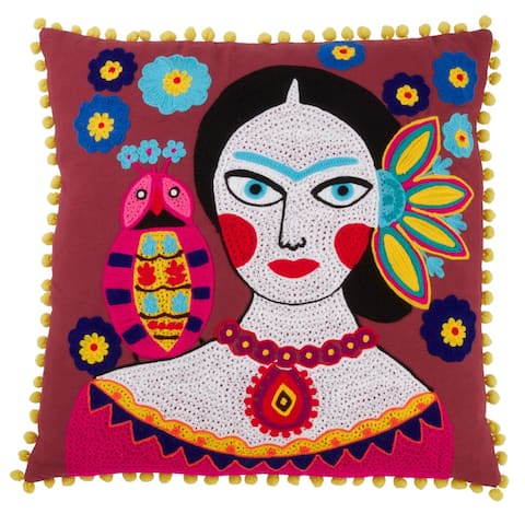Pillow with Frida Kahlo Print