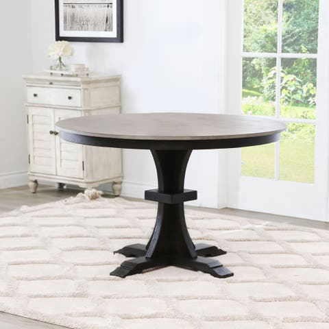 Abbyson Archwood Round Farmhouse Dining Table