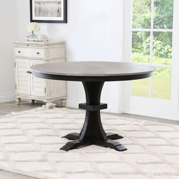 Abbyson Archwood Round Farmhouse Dining Table. Opens flyout.