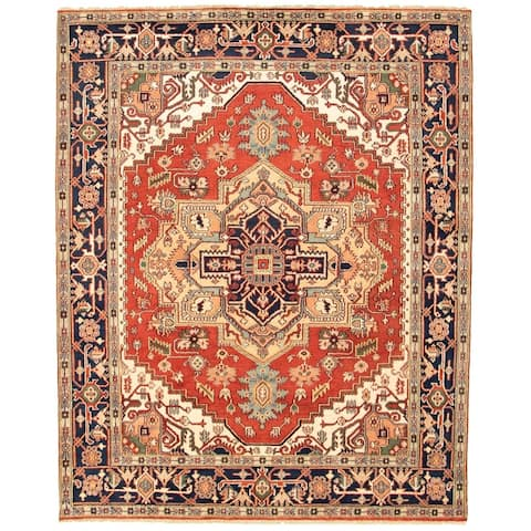 Hand-knotted Serapi Heritage I Copper Wool Rug