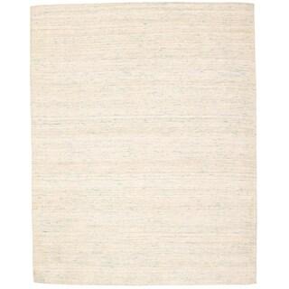 HandmadeCollage Ivory Silk Rug  ECARPETGALLERY - 8'0 x 10'0