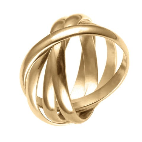 Forever Last 18 kt Gold Plated Women's 8mm 6 Bands Rolling Ring