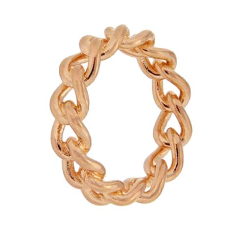 Forever Last 18 kt Gold Plated Women's Chain Link Ring Size - 9