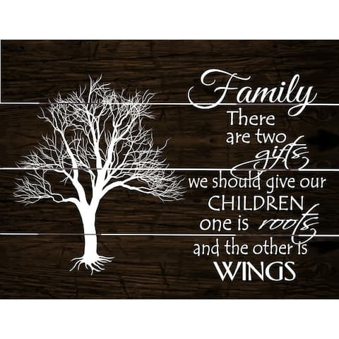 The Gray Barn Family Roots and Wings Wood Pallet Art