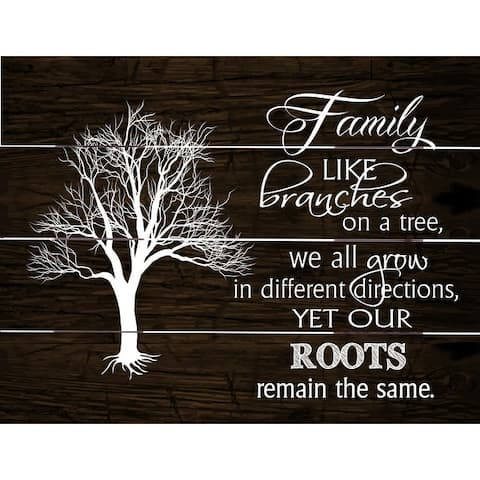 The Gray Barn Family Branches Wood Pallet Art