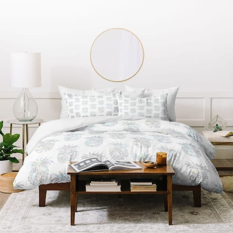 Deny Designs Pineapple Crystals 3 Piece Duvet Cover Set