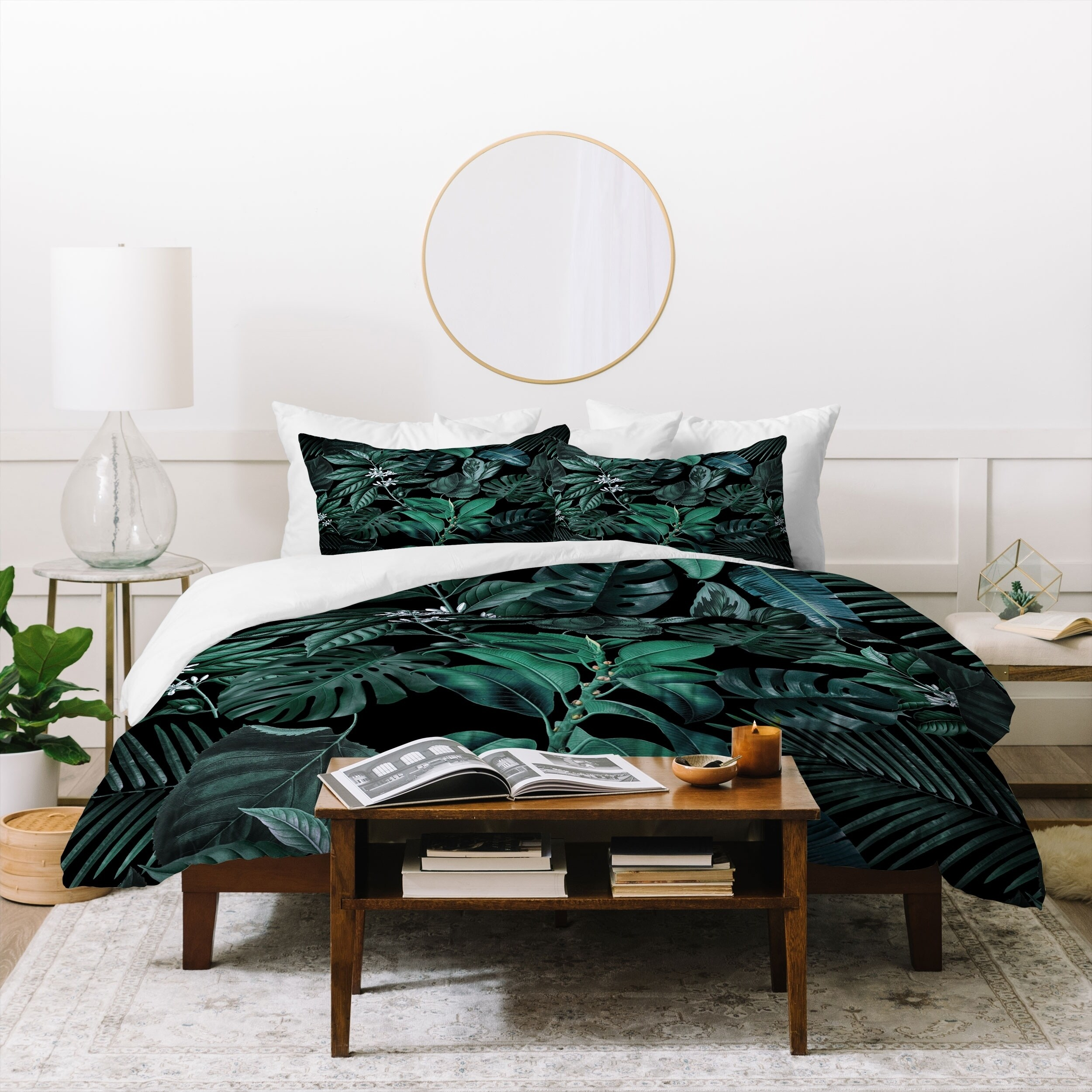 Deny Designs Deep Green Jungle 3 Piece Duvet Cover Set On Sale Overstock 29812389