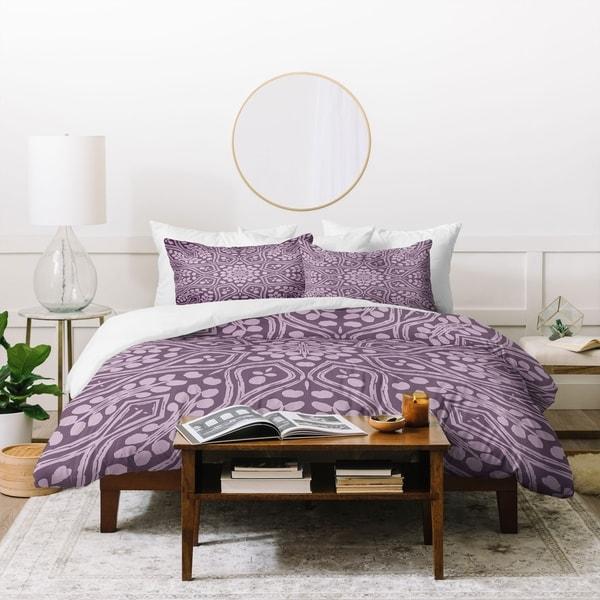 Deny Designs Boho Lavender 3 Piece Duvet Cover Set. Opens flyout.