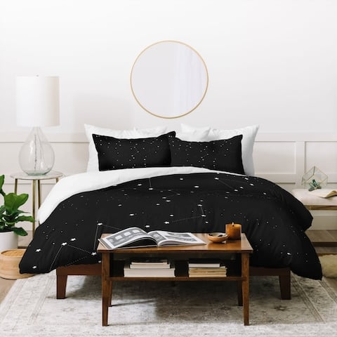 Deny Designs Constellation Star Night 3 Piece Duvet Cover Set