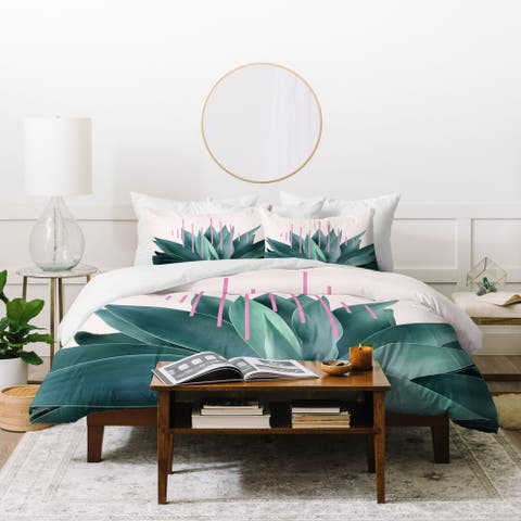 Deny Designs Agave Geometrics 3 Piece Duvet Cover Set