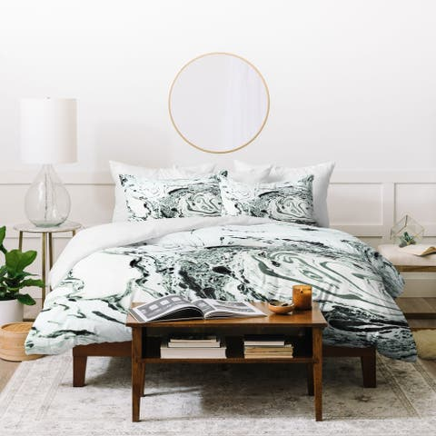 Deny Designs Salt Marble 3 Piece Duvet Cover Set