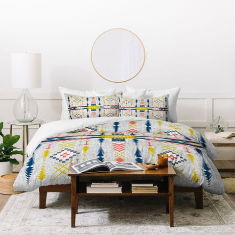 Deny Designs Bohemian Geometric Style 3 Piece Duvet Cover Set