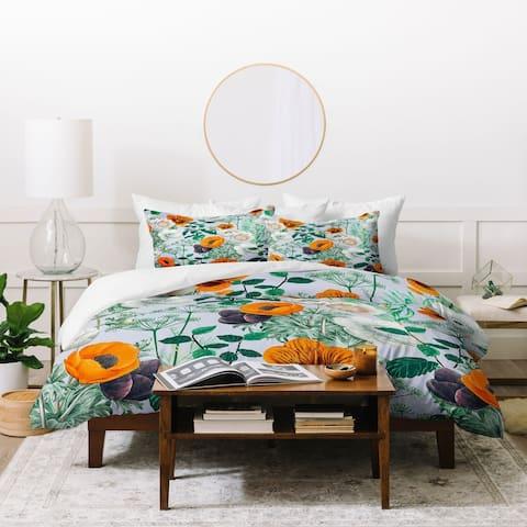Deny Designs Wildflower Forest 3 Piece Duvet Cover Set